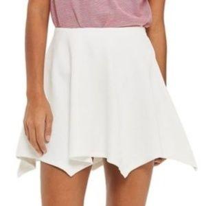 NWT Topshop White Handkerchief Full Mini Skirt 8